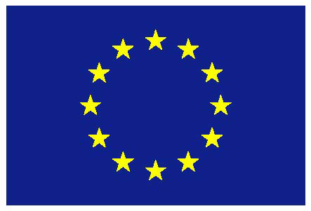 EU flag yellow low